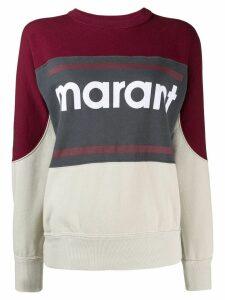 Isabel Marant Étoile panelled logo print sweatshirt - Red