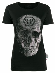 Philipp Plein rhinestone embellished T-shirt - Black