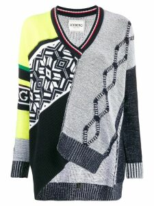 Iceberg patchwork asymmetric jumper - Black