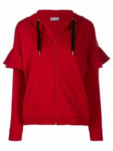 Red Valentino Love you zip-up hoodie - L58 RED