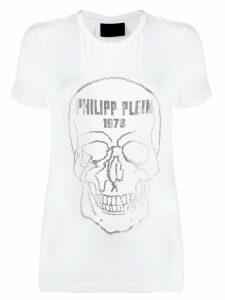 Philipp Plein rhinestone skull T-shirt - White