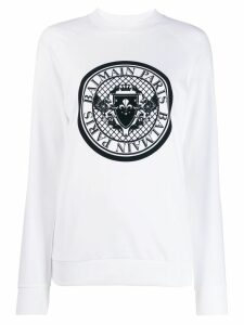 Balmain Medallion logo sweatshirt - White