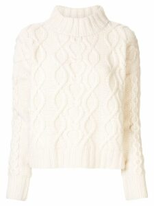 Co cable-knit jumper - White