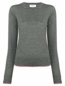 Thom Browne RWB Tipping Cashmere Pullover - Grey