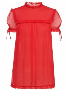 Miu Miu ruffle trim blouse - Red