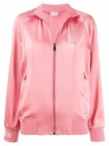 Moncler logo track jacket - PINK