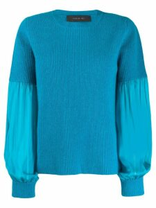 Federica Tosi pleated-sleeve sweater - Blue