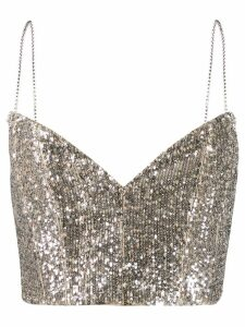 Magda Butrym Beagle sequin cropped top - SILVER