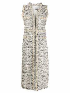 Edward Achour Paris embellished tweed vest - Grey