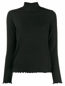 A.P.C. Dolcevita ruffled trim jumper - Black