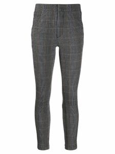 Chloé checked skinny trousers - Grey