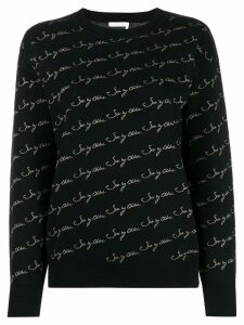 See By Chloé metallic logo knit sweater - Black