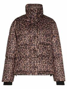 Golden Goose Yuri leopard-print padded jacket - Brown