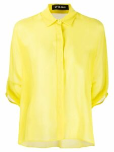 Styland short-sleeve fitted shirt - Yellow