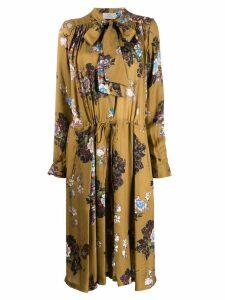 Preen By Thornton Bregazzi Lupin floral dress - Brown