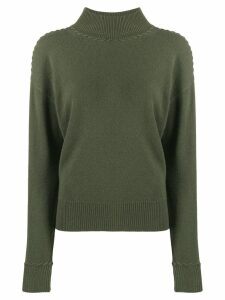 Theory stitch detail jumper - Green