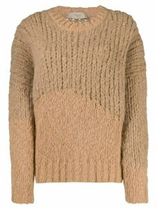 Maison Flaneur cable-knit jumper - Brown