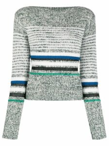 See By Chloé horizontal knit stripes jumper - Green