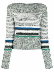 See By Chloé horizontal knit stripes jumper - Green