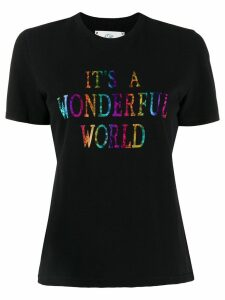 Alberta Ferretti It's A Wonderful World print T-shirt - Black
