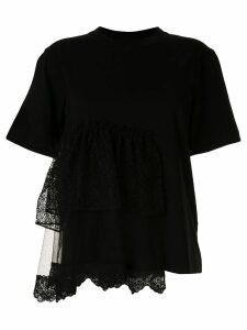 Simone Rocha tiered lace T-shirt - Black