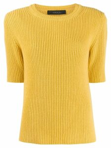 Federica Tosi ribbed knit T-shirt - Yellow