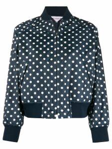 Comme Des Garçons Girl polka dot bomber jacket - Blue