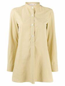 Marni mandarin collar shirt - NEUTRALS