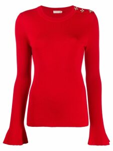Tory Burch embellished knit jumper - Red