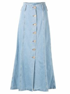 Nanushka Roja A-line denim midi-skirt - Blue