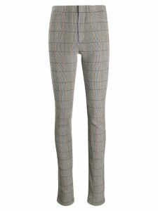 Chloé checked zip-detail trousers - NEUTRALS