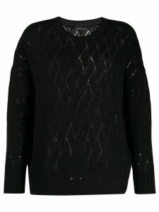 Etro perforated metallized jumper - Black