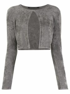 Antonino Valenti cropped long-sleeve cardigan - Grey