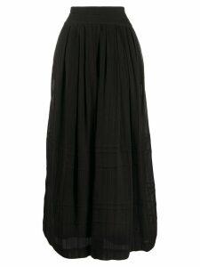 Isabel Marant Étoile striped maxi skirt - Black