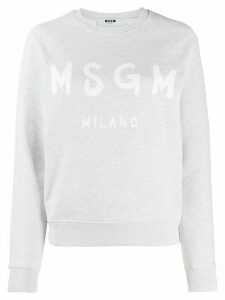 MSGM logo printed sweatshirt - Grey