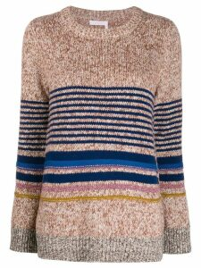 See By Chloé horizontal knit stripes jumper - NEUTRALS