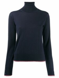 Thom Browne RWB Tipping turtleneck jumper - Blue