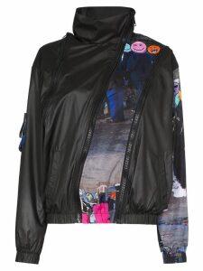 Natasha Zinko zip-detailed emoji-print jacket - Black