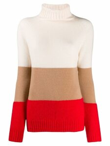 Semicouture striped turtleneck sweater - Pink