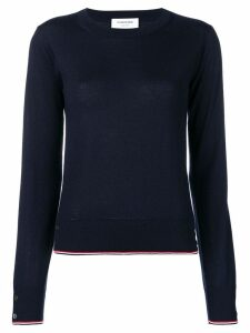 Thom Browne RWB Tipping Cashmere Pullover - Blue