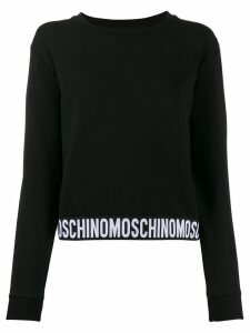 Moschino logo tape hem jumper - Black