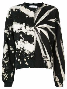 Proenza Schouler PSWL Split Splatter Cropped Sweatshirt - White