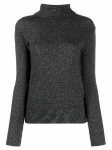 Etro speckle-effect roll neck jumper - Grey
