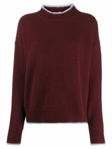 Marni bi-colour crewneck sweater - Red