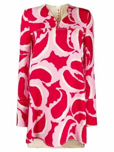Marni abstract print tunic top - PINK