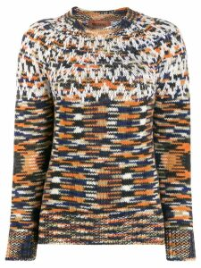 Missoni knitted geometric jumper - ORANGE