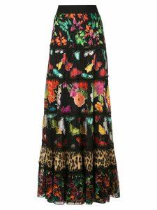 Alice+Olivia Lesa printed maxi skirt - Black