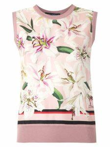Dolce & Gabbana sleeveless lily-print blouse - Pink
