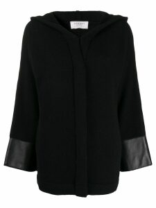 Snobby Sheep concealed front fastening cardigan - Black