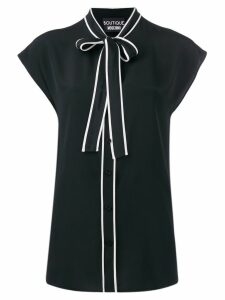 Boutique Moschino bow ribbon blouse - Black